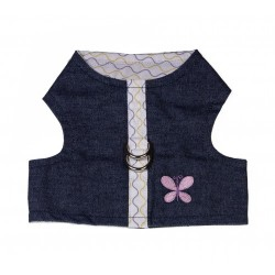 PETTORINA JEANS FLOWER WAVE HARNESS