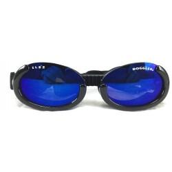 Occhiali DOGGLES ILS Shiny BLACK FRAME / BLUE LENS