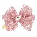 DOUBLE BOW COLLAR MAGIC PINK/GOLD