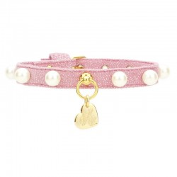 ECO PEARLS COLLAR MAGIC PINK/GOLD