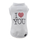 I LOVE YOU PULL T-SHIRT WHITE