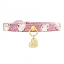 HEARTS COLLAR MAGIC PINK/GOLD