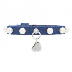 ECO PEARLS COLLAR BLUE JEANS/SILVER