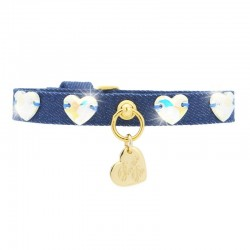 HEARTS COLLAR BLUE JEANS/GOLD