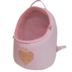 Heart Back/Front /Car Egg Black+ Teo Pink+Baby pink Peluche