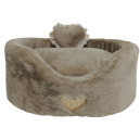 Heart Fluffy Sofa Taupe