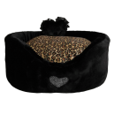 Heart Fluffy Sofa Black