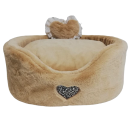 Heart Fluffy Sofa Crema