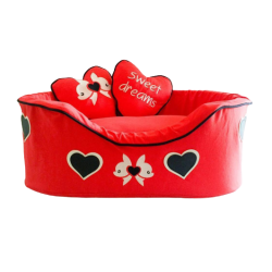 Sparkling Bed Heart Red