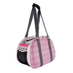 Pet Hardshell Travel Carrier – Pink Chevron