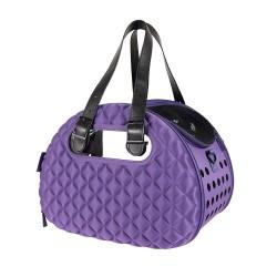 Diamond Deluxe Pet Carrier – Dark Purple