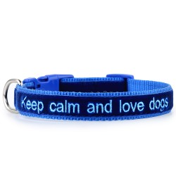 Keep calm and love dogs – velluto