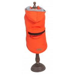 Piumino City con portasacchetti arancio