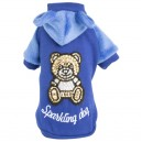 Sparkling Iconic Teddy Sweatshirt -blue-