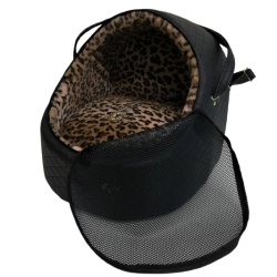 Car Igloo Square Black+Leopard