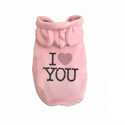 I LOVE YOU SWEATER PINK