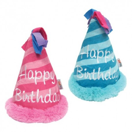 BIRTHDAY HAT CRINKLE PLUSH TOYS (2PCS. ASS.)