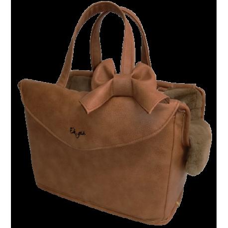 Removable Knot Passenger Bag Rigid Ambra +camel