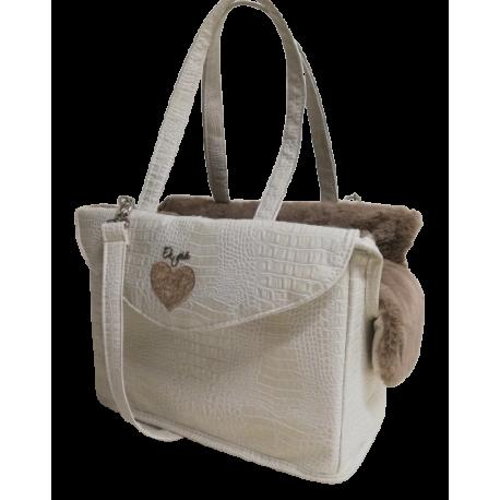 Knot Passenger Bag Rigid Croco+Taupe
