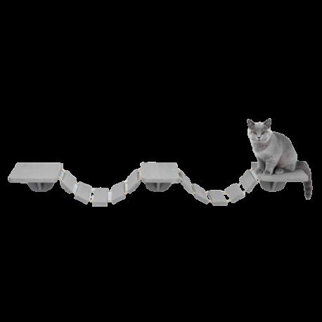 Ponte tibetano per gatti da fissare al muro