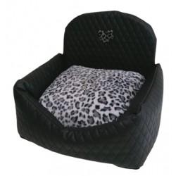 Car Bed Square Black+Leo Grey