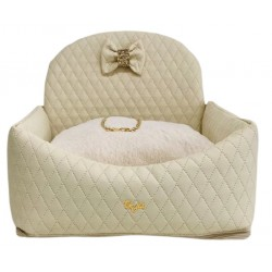 Car Bed Square Ivory +Panna