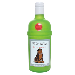 TUFFY SILLY SQUEAKER LIQUOR BOTTLE TO SIT AND STAY