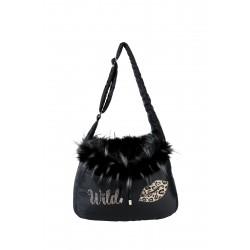 LIPS fur bag