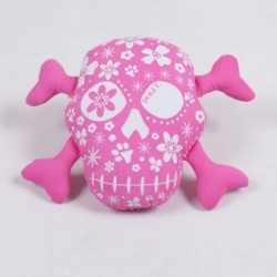 Dogue gioco toy Skull Pink/White