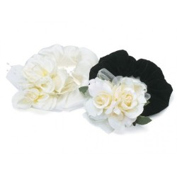 Rose Ruff Black Velvet