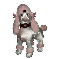 Pink Poodle Standing Mannequin