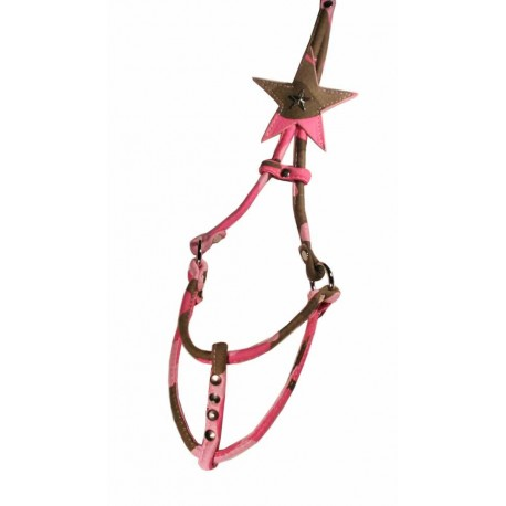 Pink Camo Star Step in Harness