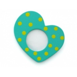 Aqua Heart Frame Ornament