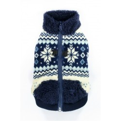Navy Snowflake Fleece Vest