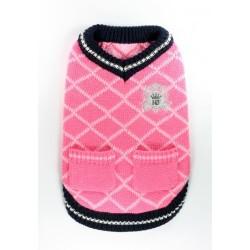 Royal Crest Sweater Vest Pink