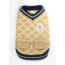 Royal Crest Sweater Vest Tan