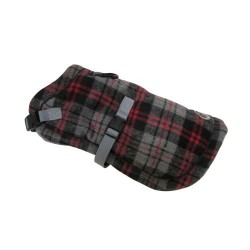 Tartan Wrap Coat Red