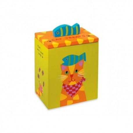 Orange Yellow Cat Treat Box