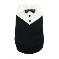 Black Tuxedo Sweater