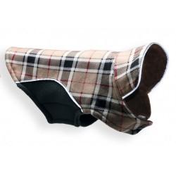 Fleece Wrap Coat Brown