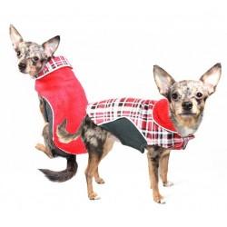 Fleece Wrap Coat Red