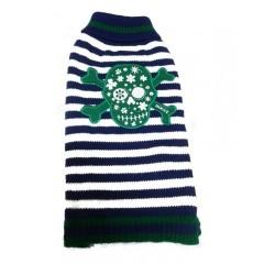 Dogue Maglioncino Skull Sweater Blue/White