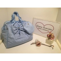Mon Amour De Luxe Bag Baby Blue San Gallo
