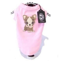 Maglietta Dog City Rosa