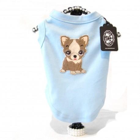 Maglietta Dog City Azzurra