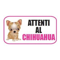 """Adesivo City """"Attenti al Chihuahua """""""