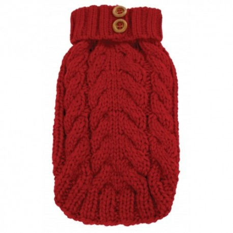 Cityscape Sweater Red