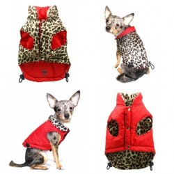 Red Leopard Reversible Vest